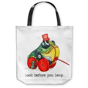 Unique Shoulder Bag Tote Bags   Marley Ungaro - Toys Frog   Childlike Toys Retro Fun Frogs