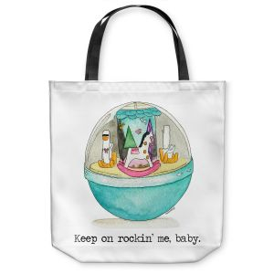 Unique Shoulder Bag Tote Bags   Marley Ungaro - Toys Keep On Rocking Me Baby   Childlike Toys Retro Fun