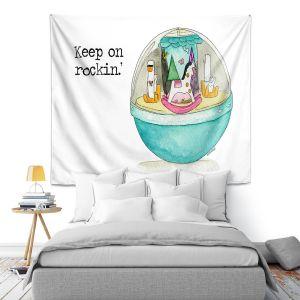 Artistic Wall Tapestry | Marley Ungaro - Toys Keep On Rockin l | Childlike Toys Retro Fun