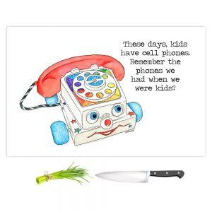 Artistic Kitchen Bar Cutting Boards | Marley Ungaro - Toys Telephone | Childlike Toys Retro Fun Telephone