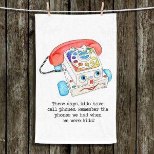 Unique Hanging Tea Towels | Marley Ungaro - Toys Telephone | Childlike Toys Retro Fun Telephone