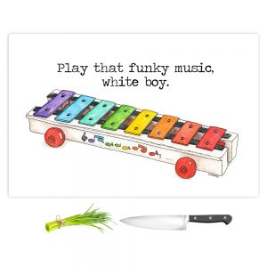 Artistic Kitchen Bar Cutting Boards | Marley Ungaro - Toys Xylophone White Boy | Childlike Toys Retro Fun Xylophone