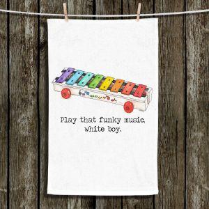 Unique Bathroom Towels | Marley Ungaro - Toys Xylophone White Boy | Childlike Toys Retro Fun Xylophone