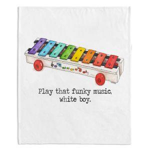 Decorative Fleece Throw Blankets | Marley Ungaro - Toys Xylophone White Boy | Childlike Toys Retro Fun Xylophone