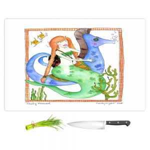 Artistic Kitchen Bar Cutting Boards | Marley Ungaro - Traveling Mermaid