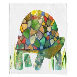 Decorative Fleece Throw Blankets | Marley Ungaro - Turtle