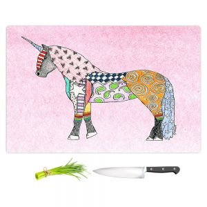 Artistic Kitchen Bar Cutting Boards | Marley Ungaro - Unicorn Pastel Pink