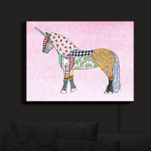 Nightlight Sconce Canvas Light | Marley Ungaro - Unicorn Pastel Pink | Fantasy Make Believe Child Like Animals