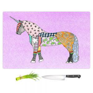Artistic Kitchen Bar Cutting Boards | Marley Ungaro - Unicorn Pastel Violet