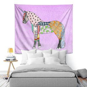 Artistic Wall Tapestry | Marley Ungaro - Unicorn Pastel Violet