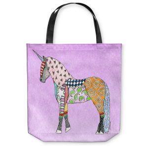 Unique Shoulder Bag Tote Bags | Marley Ungaro - Unicorn Pastel Violet