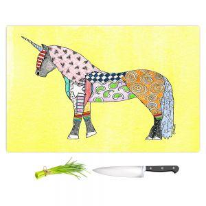 Artistic Kitchen Bar Cutting Boards | Marley Ungaro - Unicorn Pastel Yellow