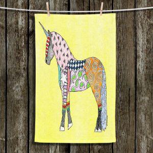 Unique Bathroom Towels | Marley Ungaro - Unicorn Pastel Yellow