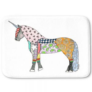 Decorative Bathroom Mats | Marley Ungaro - Unicorn White