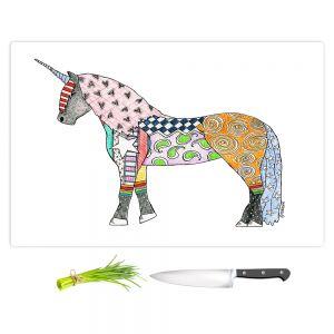 Artistic Kitchen Bar Cutting Boards | Marley Ungaro - Unicorn White