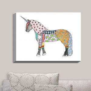 Decorative Canvas Wall Art | Marley Ungaro - Unicorn White | Fantasy Make Believe Child Like Animals