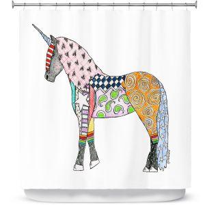 Premium Shower Curtains | Marley Ungaro - Unicorn White