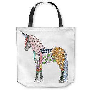 Unique Shoulder Bag Tote Bags | Marley Ungaro - Unicorn White
