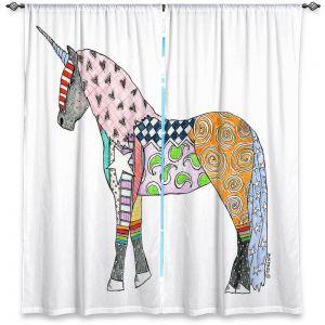 Decorative Window Treatments | Marley Ungaro - Unicorn White