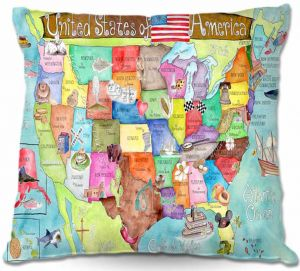 Throw Pillows Decorative Artistic   Marley Ungaro United States of America MAP