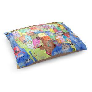 Decorative Dog Pet Beds   Marley Ungaro United States MAP Royal Blue