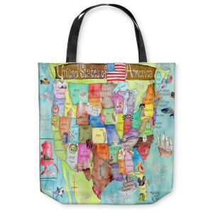 Unique Shoulder Bag Tote Bags | Marley Ungaro United States MAP Turquoise