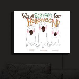 Nightlight Sconce Canvas Light | Marley Ungaro - We All Scream | halloween Ghosts