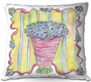 Throw Pillows Decorative Artistic | Marley Ungaro - Wedding Bouquet | Event flower lace