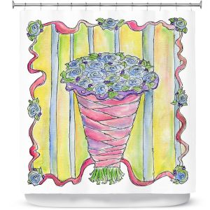 Premium Shower Curtains | Marley Ungaro - Wedding Bouquet | Event flower lace