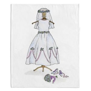 Decorative Fleece Throw Blankets | Marley Ungaro - Wedding Dress | Event gown tailor