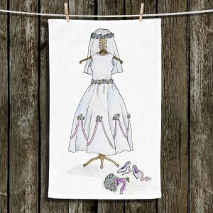 Unique Hanging Tea Towels | Marley Ungaro - Wedding Dress | Event gown tailor