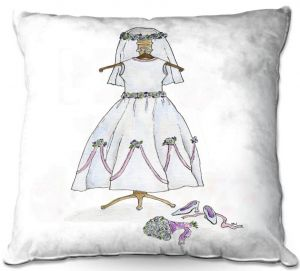 Throw Pillows Decorative Artistic | Marley Ungaro - Wedding Dress | Event gown tailor