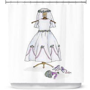 Premium Shower Curtains | Marley Ungaro - Wedding Dress | Event gown tailor