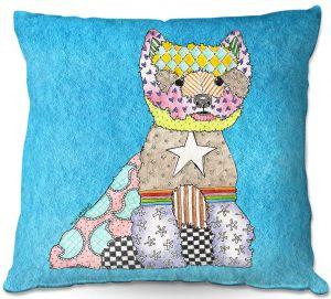 Throw Pillows Decorative Artistic | Marley Ungaro - Westie Aqua