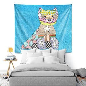 Artistic Wall Tapestry   Marley Ungaro - Westie Aqua