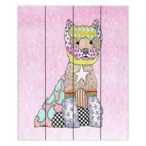 Decorative Wood Plank Wall Art  Marley Ungaro - Westie Pastel Pink