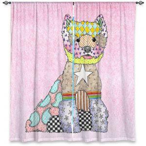 Decorative Window Treatments | Marley Ungaro - Westie Pastel Pink
