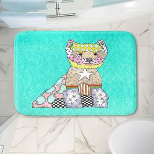 Decorative Bathroom Mats | Marley Ungaro - Westie Turquoise
