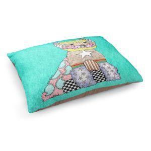 Decorative Dog Pet Beds | Marley Ungaro - Westie Turquoise