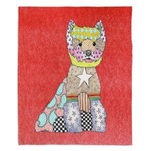 Decorative Fleece Throw Blankets   Marley Ungaro - Westie Watermelon
