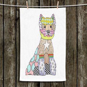 Unique Hanging Tea Towels | Marley Ungaro - Westie White | Dogs Animals Pets Colorful Westie