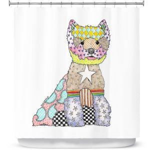 Premium Shower Curtains | Marley Ungaro - Westie White