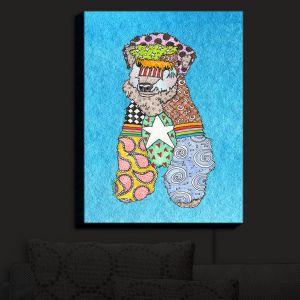 Nightlight Sconce Canvas Light | Marley Ungaro - Wheaten Aqua