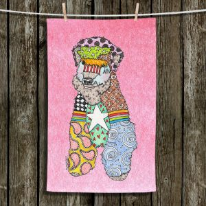 Unique Bathroom Towels | Marley Ungaro - Wheaten Light Pink | Pattern whimsical abstract