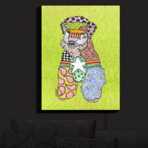 Nightlight Sconce Canvas Light | Marley Ungaro - Wheaten Lime