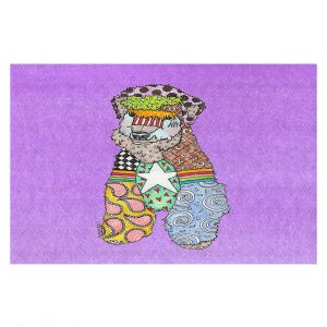 Decorative Floor Covering Mats | Marley Ungaro - Wheaten Violet | Pattern whimsical abstract