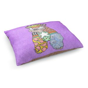 Decorative Dog Pet Beds | Marley Ungaro - Wheaten Violet | Pattern whimsical abstract