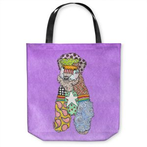 Unique Shoulder Bag Tote Bags   Marley Ungaro - Wheaten Violet   Pattern whimsical abstract
