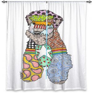 Decorative Window Treatments   Marley Ungaro - Wheaten White   Pattern whimsical abstract