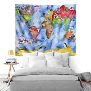 Artistic Wall Tapestry   Marley Ungaro This World Royal Blue MAP